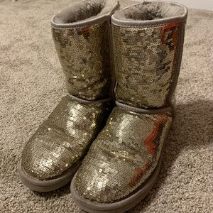 UGG silver sparkle boots